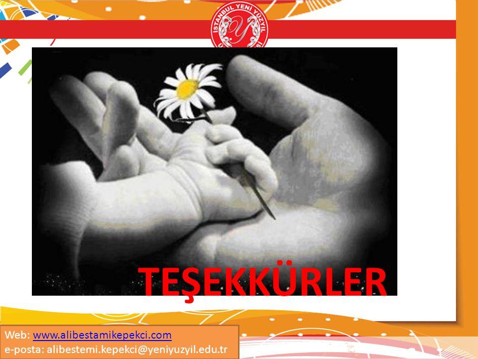 TEŞEKKÜRLER Web: www.alibestamikepekci.comwww.alibestamikepekci.com e-posta: alibestemi.kepekci@yeniyuzyil.edu.tr