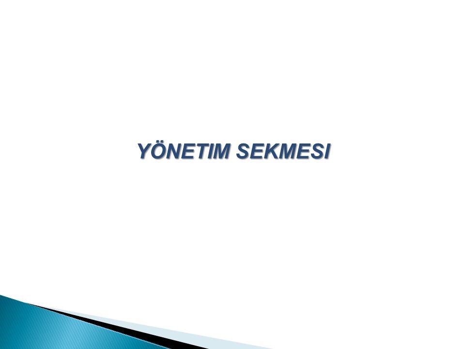 YÖNETIM SEKMESI
