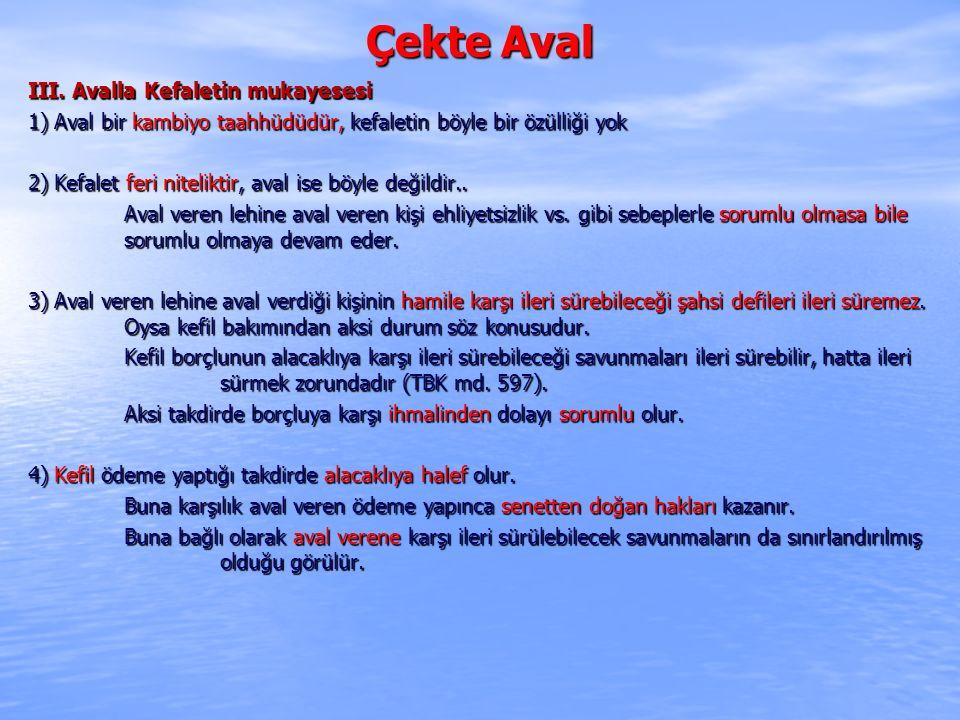 Çekte Aval III.