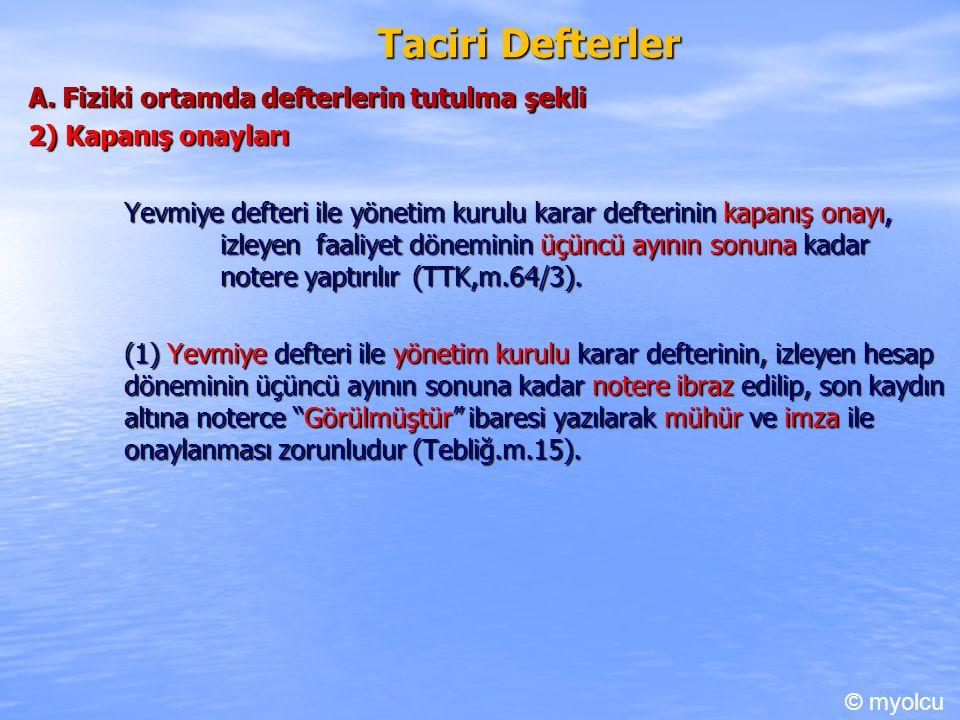 Taciri Defterler A.