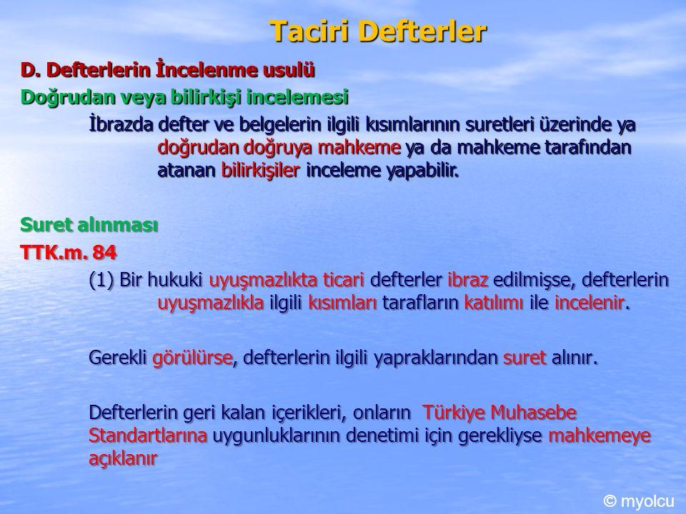 Taciri Defterler D.