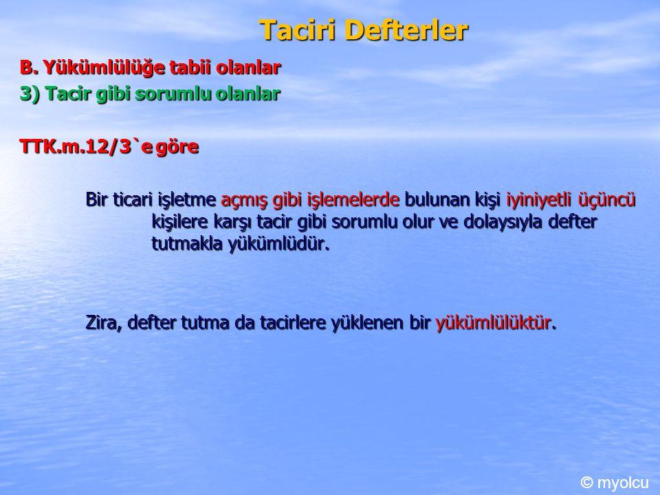 Taciri Defterler B.