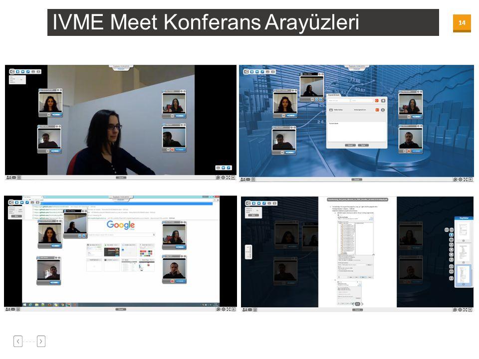 14 IVME Meet Konferans Arayüzleri