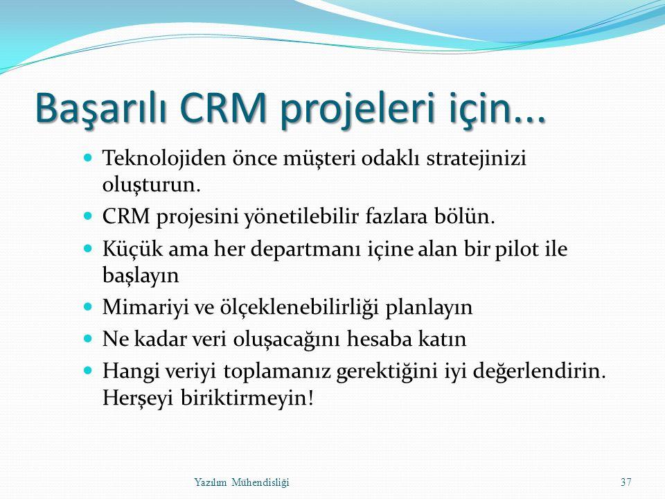 Başarılı CRM projeleri için... Teknolojiden önce müşteri odaklı stratejinizi oluşturun.