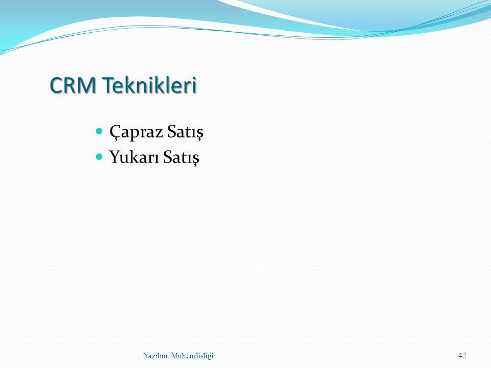 CRM Teknikleri Çapraz Satış Yukarı Satış Yazılım Mühendisliği42