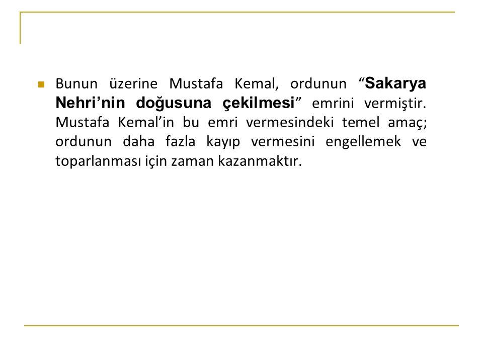 Eskişehir - Kütahya Muharebeleri'nin Sonuçları TBMM'ye olan güven sarsılmış, Mustafa Kemal'e olan muhalefet artmıştır.