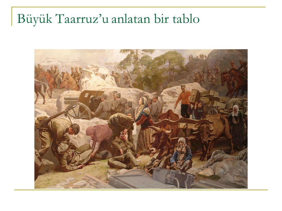 Büyük Taarruz'u anlatan bir tablo