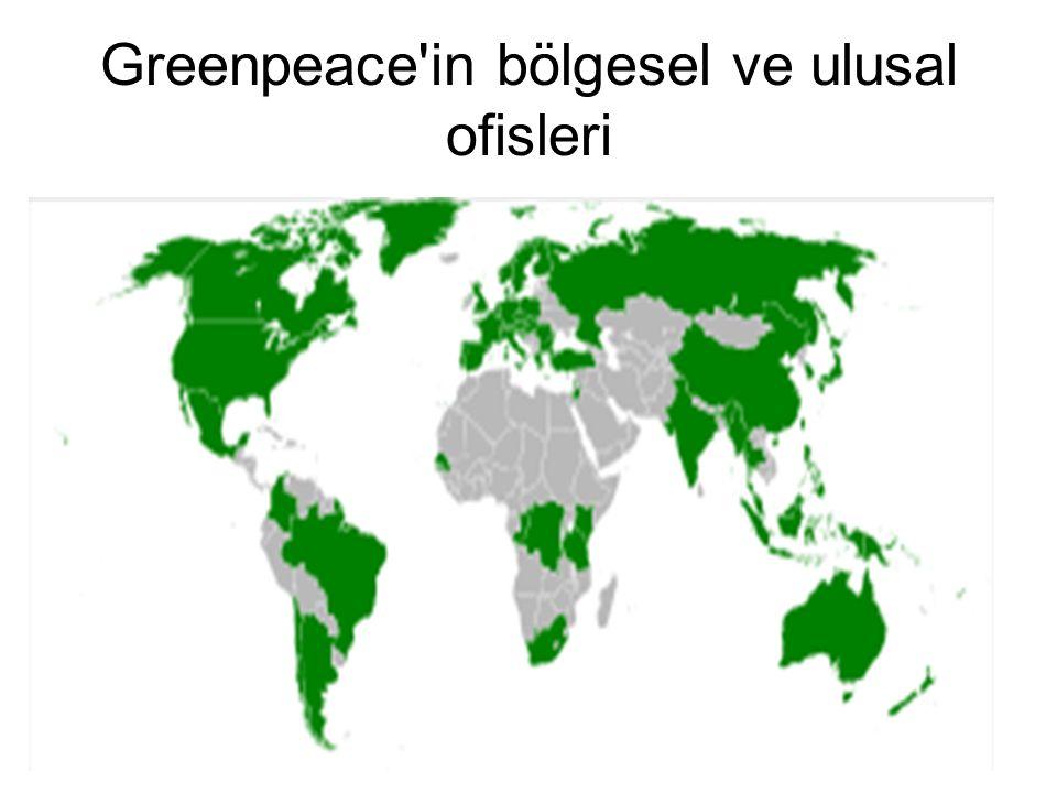 Greenpeace'in bölgesel ve ulusal ofisleri