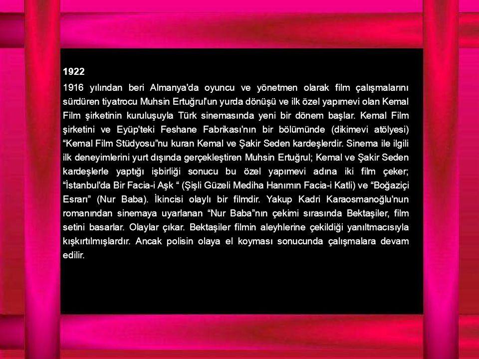 1945 Kendi adına İstanbul Film (1944) kuran Faruk Kenç yapımevinin ilk filmi olarak Hasret i yönetti.