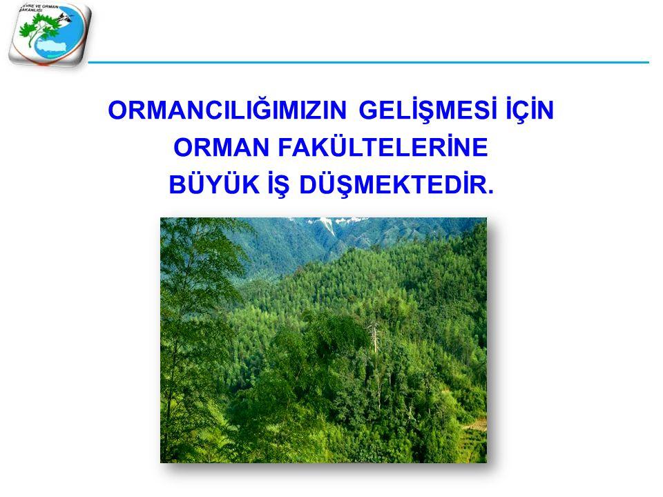  Orman teşkilatı ve ormancılar Cumhuriyet sonrası, özellikle kırsal kalkınmada fevkalade önemli bir rol oynamışlardır.