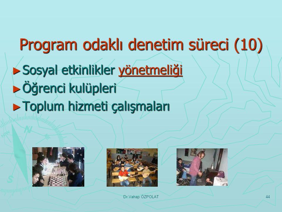 Dr.Vahap ÖZPOLAT43 Program odaklı denetim süreci(9) ► Birleştirilmiş sınıf uygulamaları ile ilgili esaslar uygulamaları