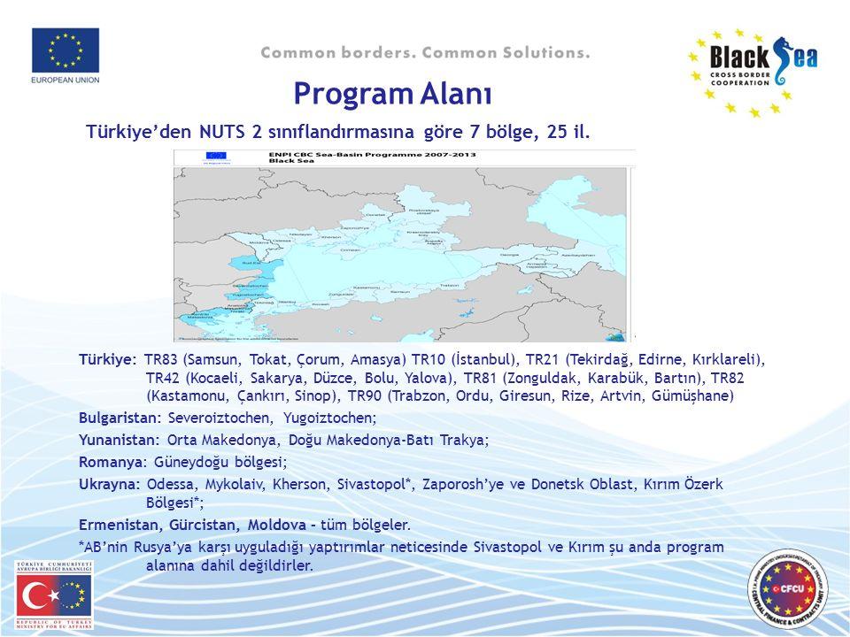 Türkiye'den NUTS 2 sınıflandırmasına göre 7 bölge, 25 il. Türkiye: TR83 (Samsun, Tokat, Çorum, Amasya) TR10 (İstanbul), TR21 (Tekirdağ, Edirne, Kırkla