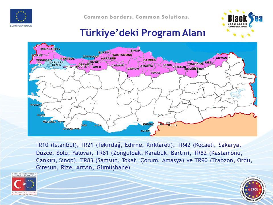 Türkiye'deki Program Alanı TR10 (İstanbul), TR21 (Tekirdağ, Edirne, Kırklareli), TR42 (Kocaeli, Sakarya, Düzce, Bolu, Yalova), TR81 (Zonguldak, Karabü