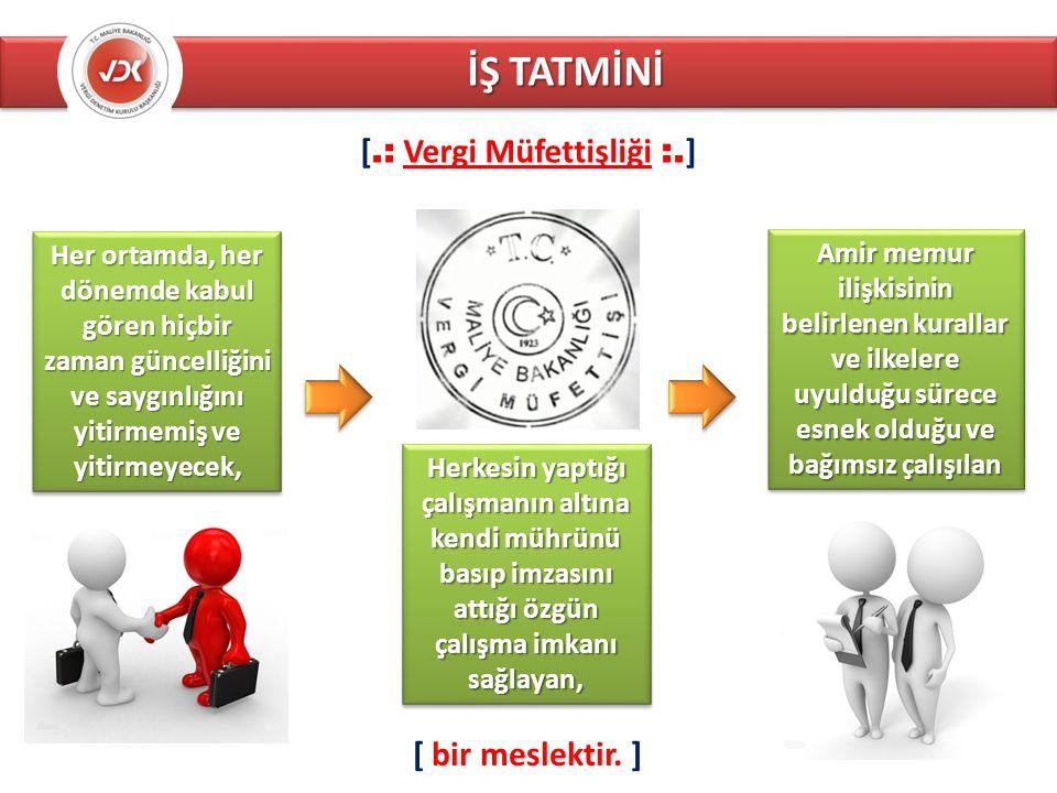 İŞ TATMİNİ [.: Vergi Müfettişliği :.