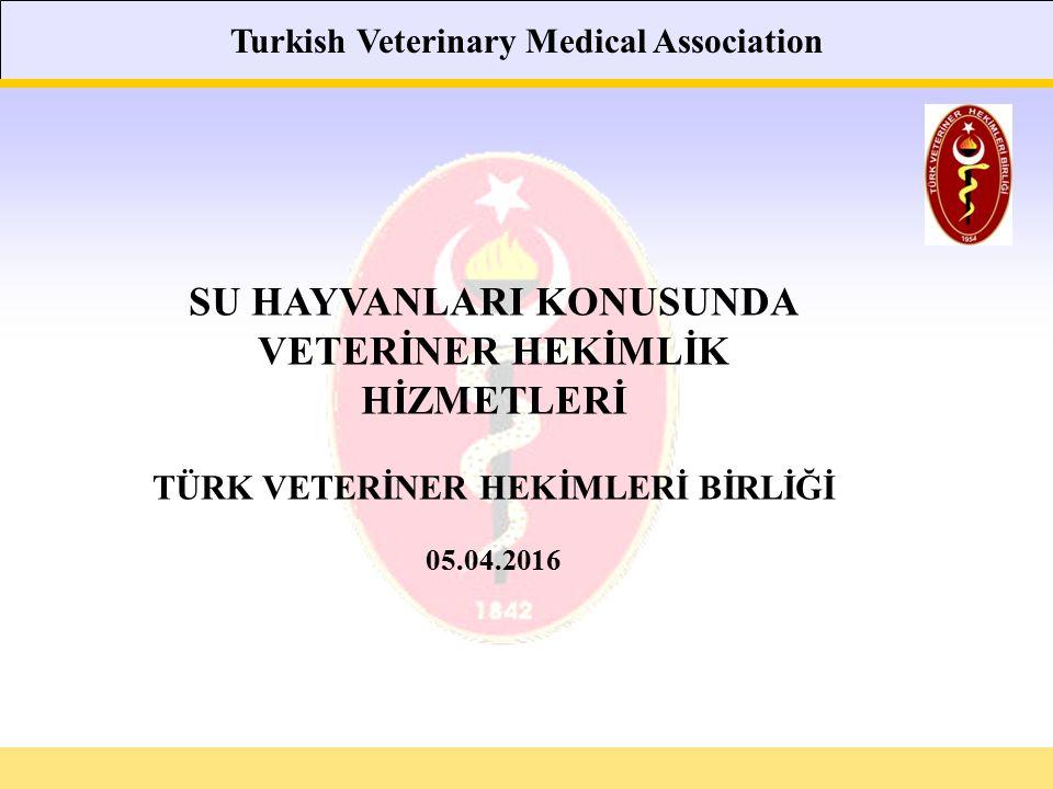 Turkish Veterinary Medical Association SU HAYVANLARI KONUSUNDA VETERİNER HEKİMLİK HİZMETLERİ TÜRK VETERİNER HEKİMLERİ BİRLİĞİ 05.04.2016