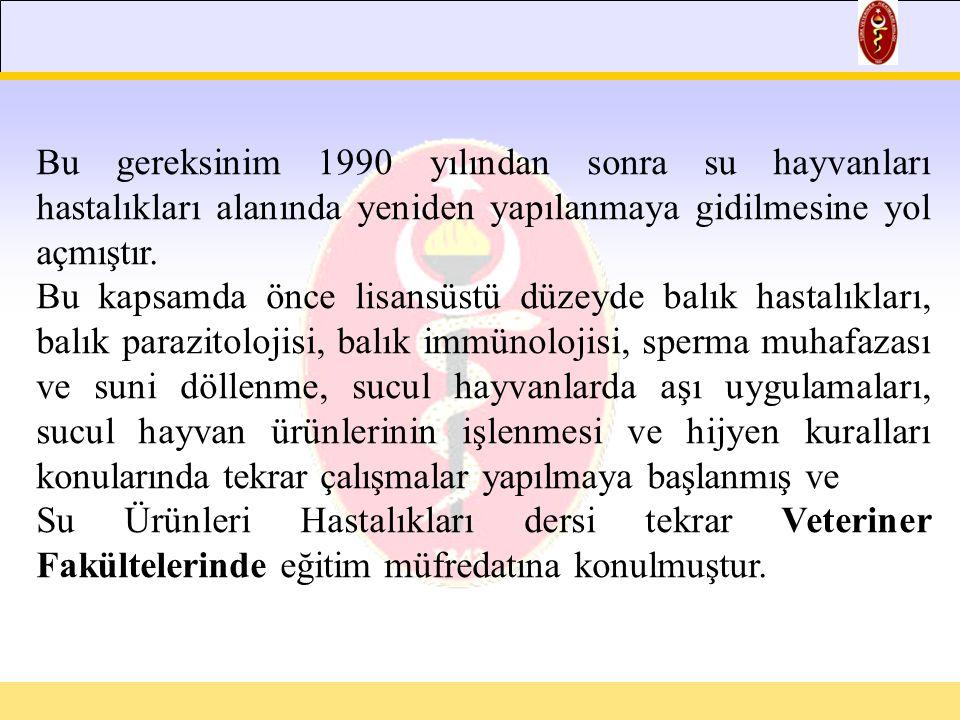 Veteriner Hekimler 5 yıl süreli ve tam zamanlı verilen eğitim sırasında, anatomi, histoloji, fizyoloji, biyokimya, parazitoloji, patoloji, bakteriyoloji, viroloji, gıda hijyen ve teknolojisi, farmakoloji ve toksikoloji, beslenme, beslenme hastalıkları, genetik, doğum, cerrahi ve iç hastalıkları, suni tohumlama vs.