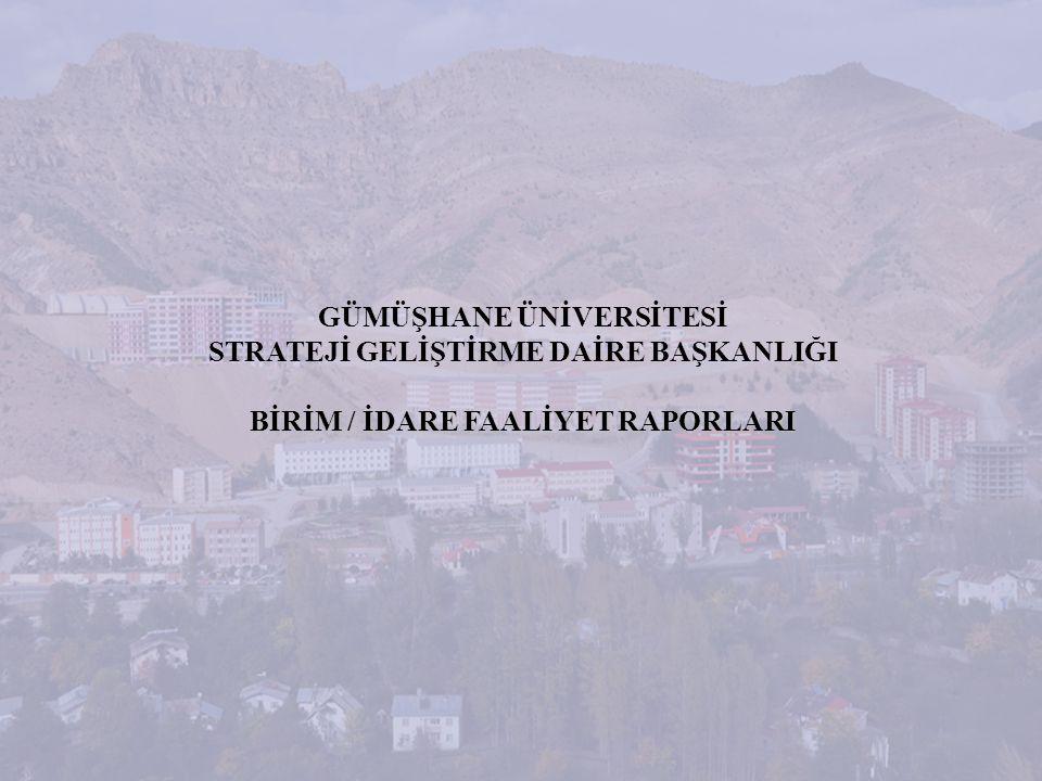 STRATEJİ GELİŞTİRME DAİRE BAŞKANLIĞI BİRİM / İDARE FAALİYET RAPORU HAZIRLAMA EĞİTİMİ FAALİYETLERE İLİŞKİN BİLGİ VE DEĞERLENDİRMELER B- PERFORMANS BİLGİLERİ 1- Faaliyet ve Proje Bilgileri Birimler 2011 yılına ilişkin bütün faaliyetlerini nicel ve nitel olarak sayacaklar, dönem başında belirlenmiş hedeflerin ne ölçüde gerçekleştiğini, sağlanan gelişmeleri geçen yıllar ile mukayeseli olarak belirteceklerdir.