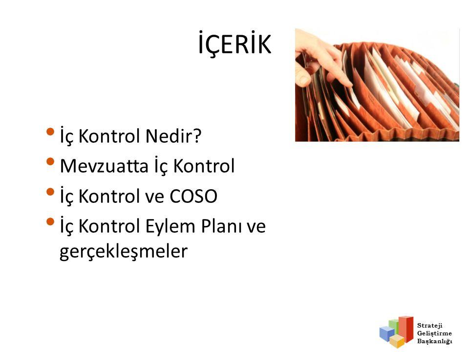 Strateji Geliştirme Başkanlığı Kontrol Ortamı Şartları Kontrol Ortamı Kontrol Faaliyetleri Bilgi ve İletişim İzleme Risk Değerlendirmesi 2.