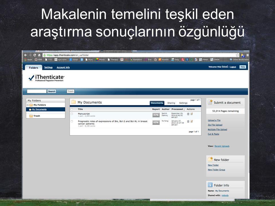 Veri Fabrikasyonuna Karşı: Verilerde orijinallik, güvenilirlik Kayıt Tutma