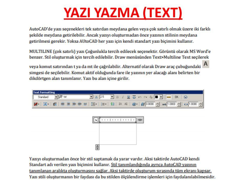 YAZI YAZMA (TEXT)