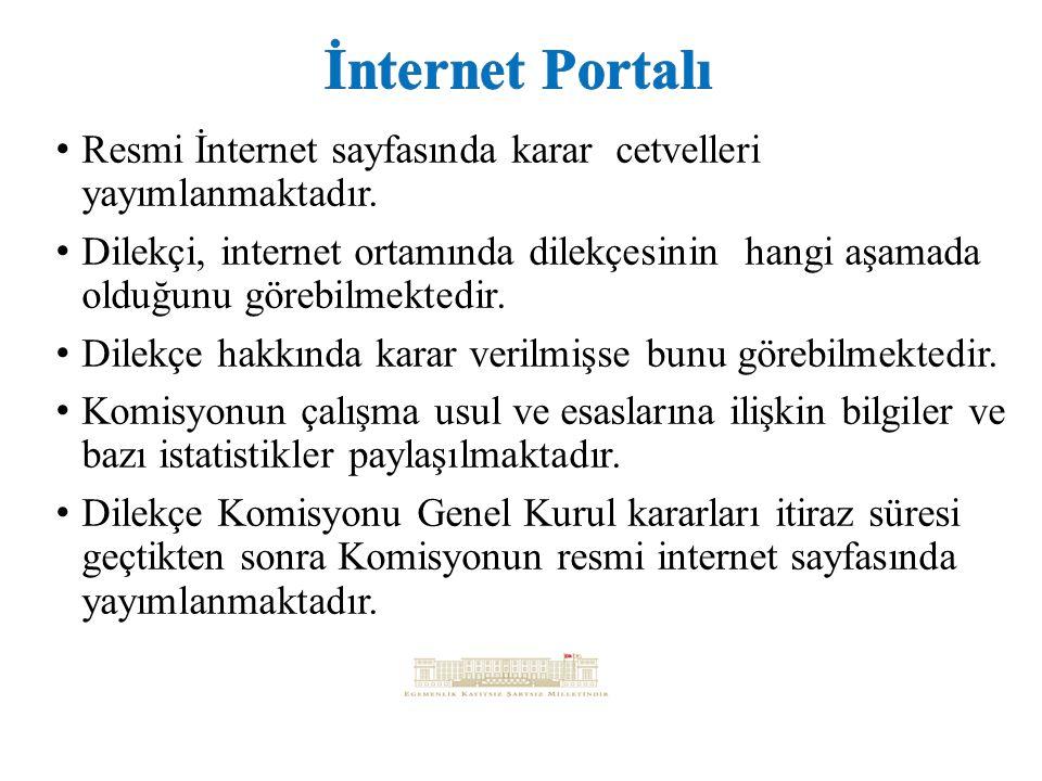 Resmi İnternet sayfasında karar cetvelleri yayımlanmaktadır.