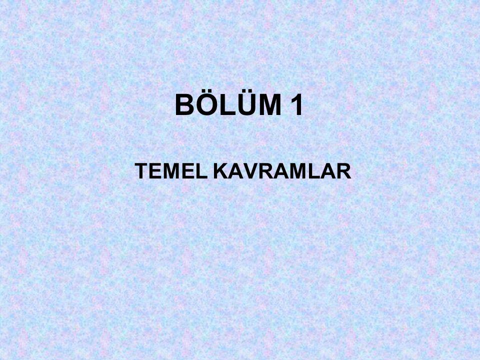 BÖLÜM 1 TEMEL KAVRAMLAR
