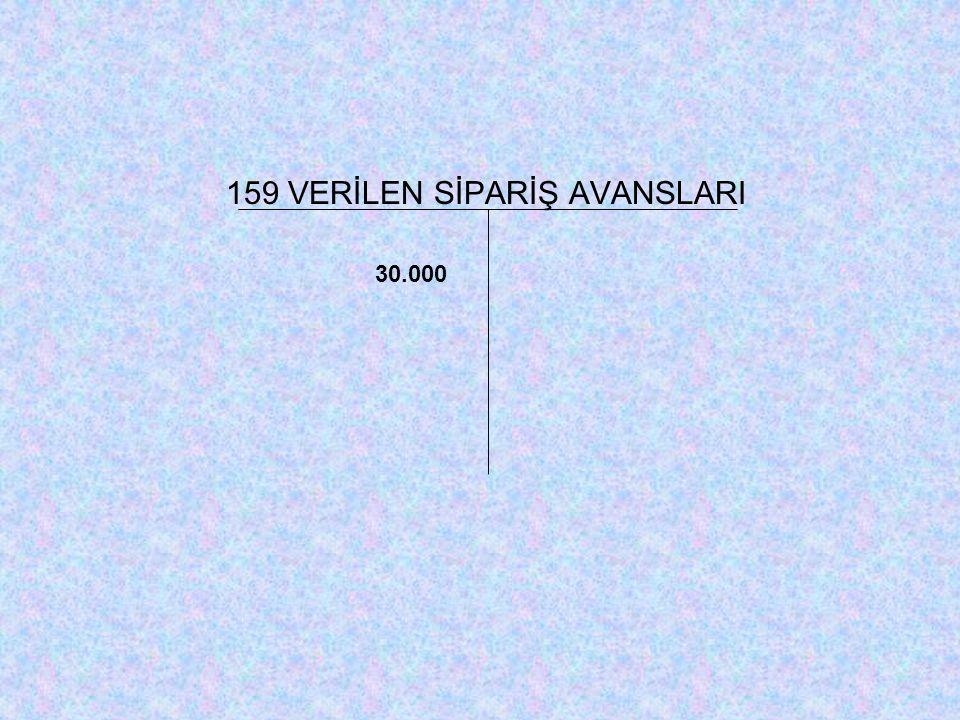 159 VERİLEN SİPARİŞ AVANSLARI 30.000