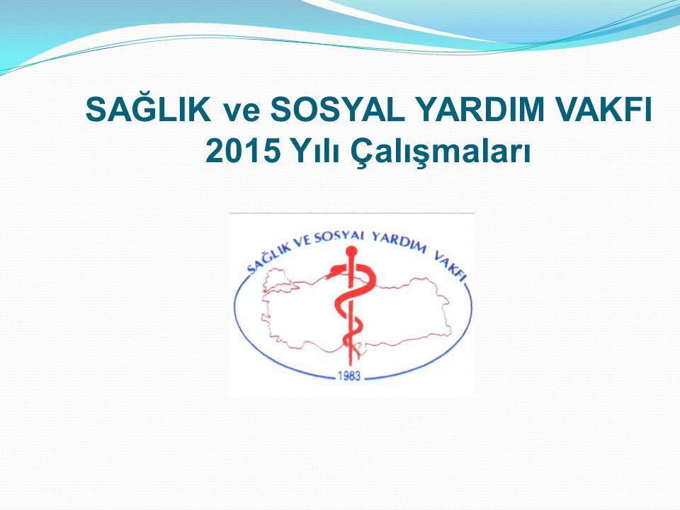 SAĞLIK ve SOSYAL YARDIM VAKFI 2015 Yılı Çalışmaları