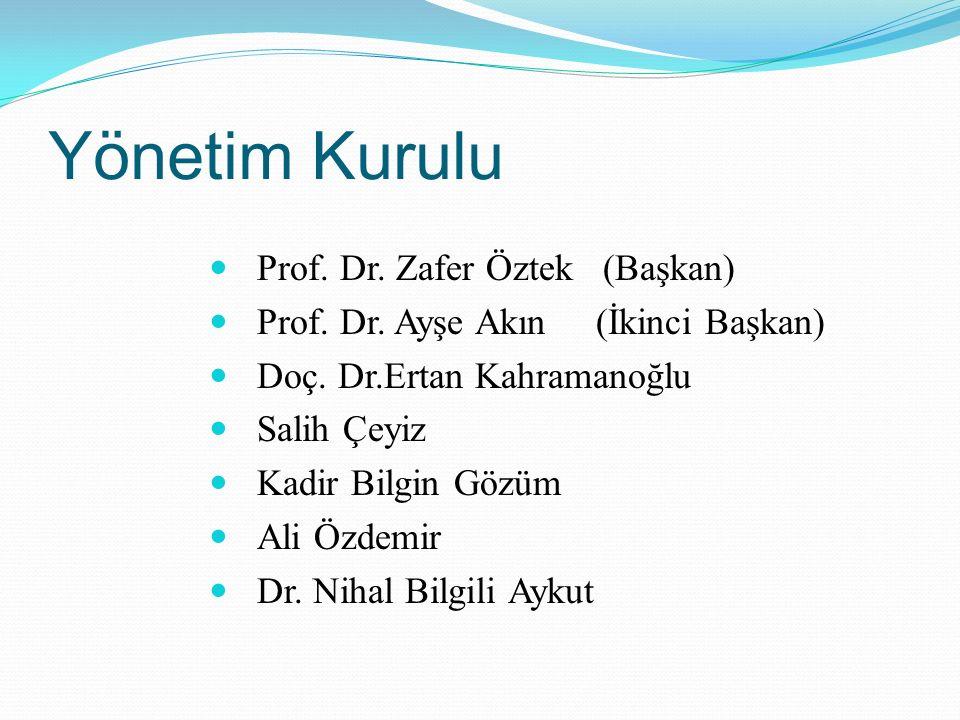 Yönetim Kurulu Prof. Dr. Zafer Öztek (Başkan) Prof.