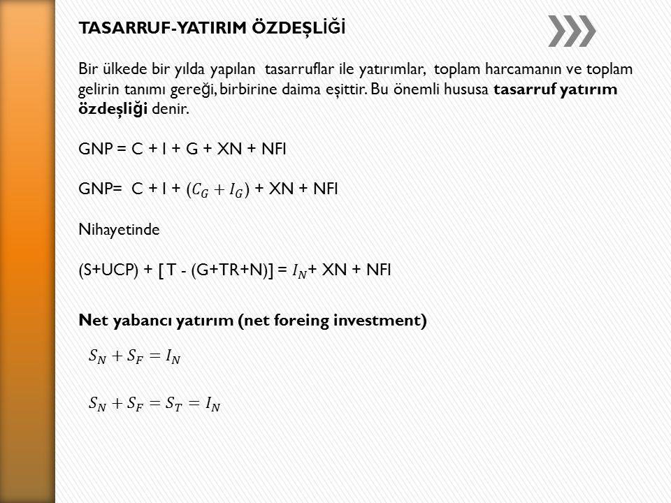 Net yabancı yatırım (net foreing investment)
