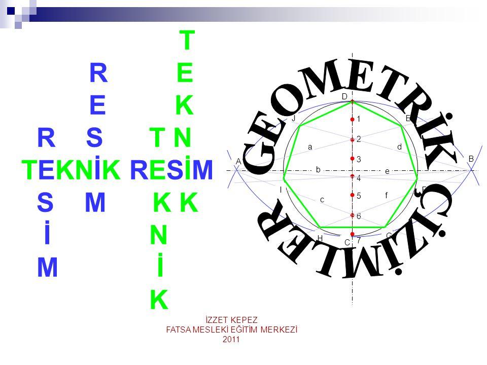 1- Daire veya Yayın Merkezini Bulmak 1- Daire veya yay üzerinde en az iki tane kiriş çizilir.