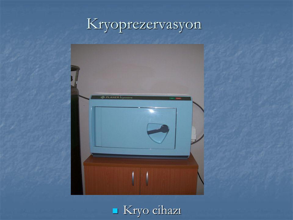 Kryoprezervasyon Kryo cihazı Kryo cihazı