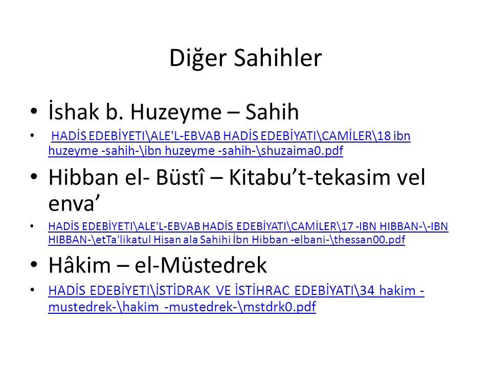 Diğer Sahihler İshak b. Huzeyme – Sahih HADİS EDEBİYETI\ALE'L-EBVAB HADİS EDEBİYATI\CAMİLER\18 ibn huzeyme -sahih-\ibn huzeyme -sahih-\shuzaima0.pdfHA