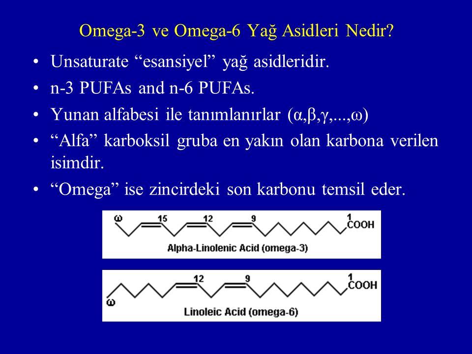 Omega-3 ve Omega-6 Yağ Asidleri Nedir.Unsaturate esansiyel yağ asidleridir.