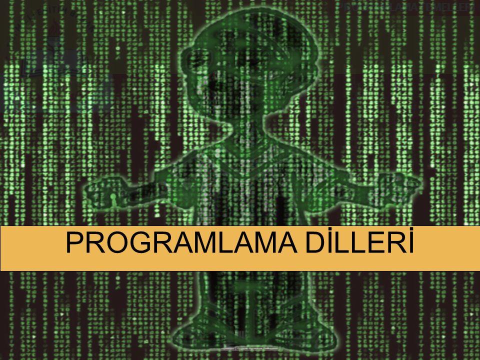PROGRAMLAMA TEMELLERİ Derleyici (Compiler) Yüksek seviye bir dili makine diline çeviren programlara derleyici – compiler denir.