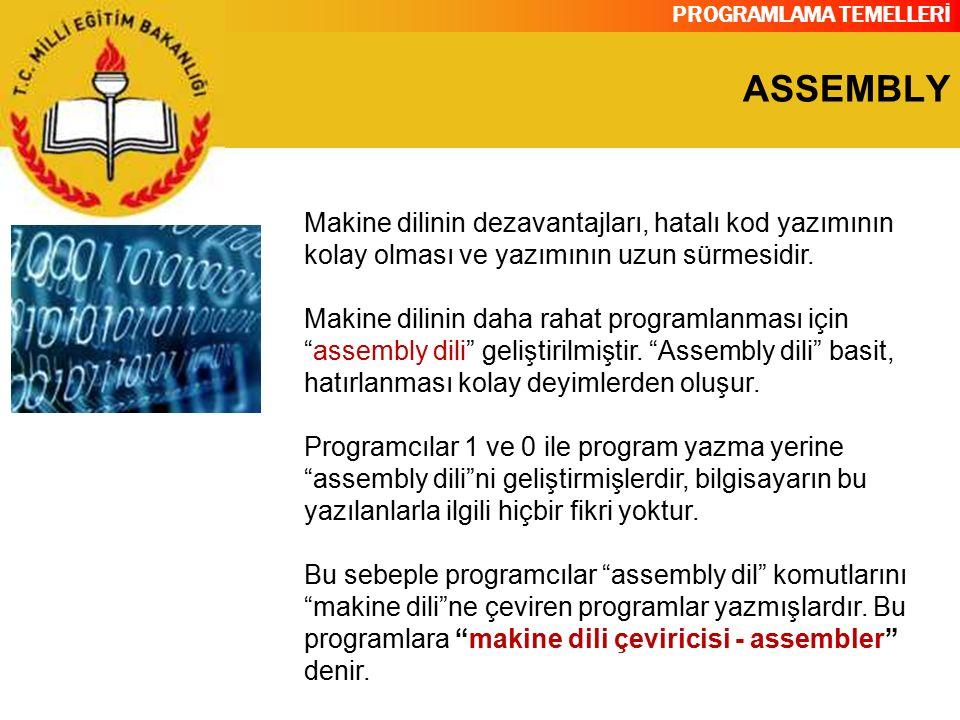 PROGRAMLAMA TEMELLERİ ASSEMBLY