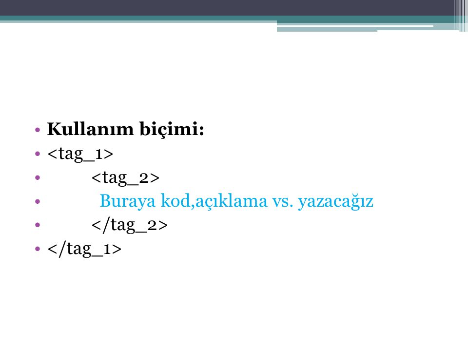 Css <!-- h2.yesil{color:green} h2.gri {color:gray} --> YEŞİL sınıf seçicisi ile GRİ sınıf seçicisi ile