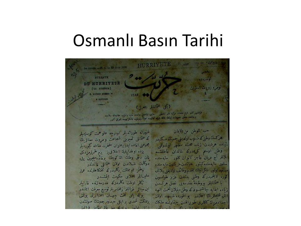 Osmanlı Basın Tarihi
