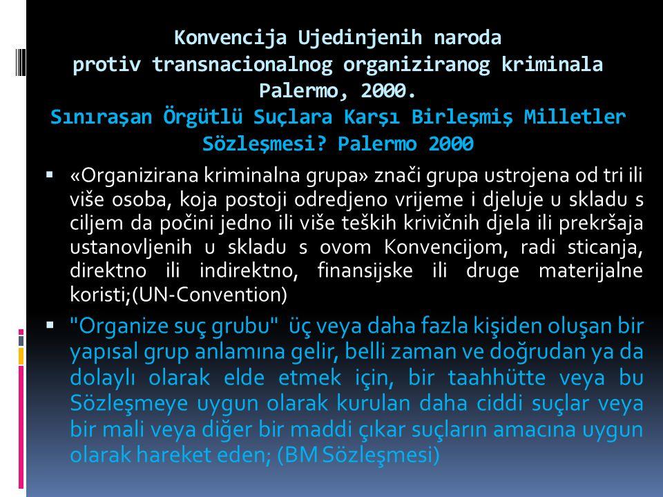 Konvencija Ujedinjenih naroda protiv transnacionalnog organiziranog kriminala Palermo, 2000.