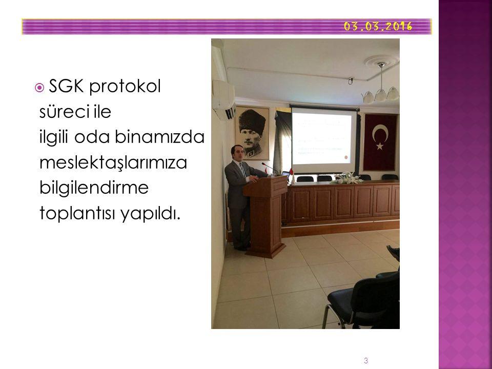  SGK protokol süreci ile ilgili oda binamızda meslektaşlarımıza bilgilendirme toplantısı yapıldı.