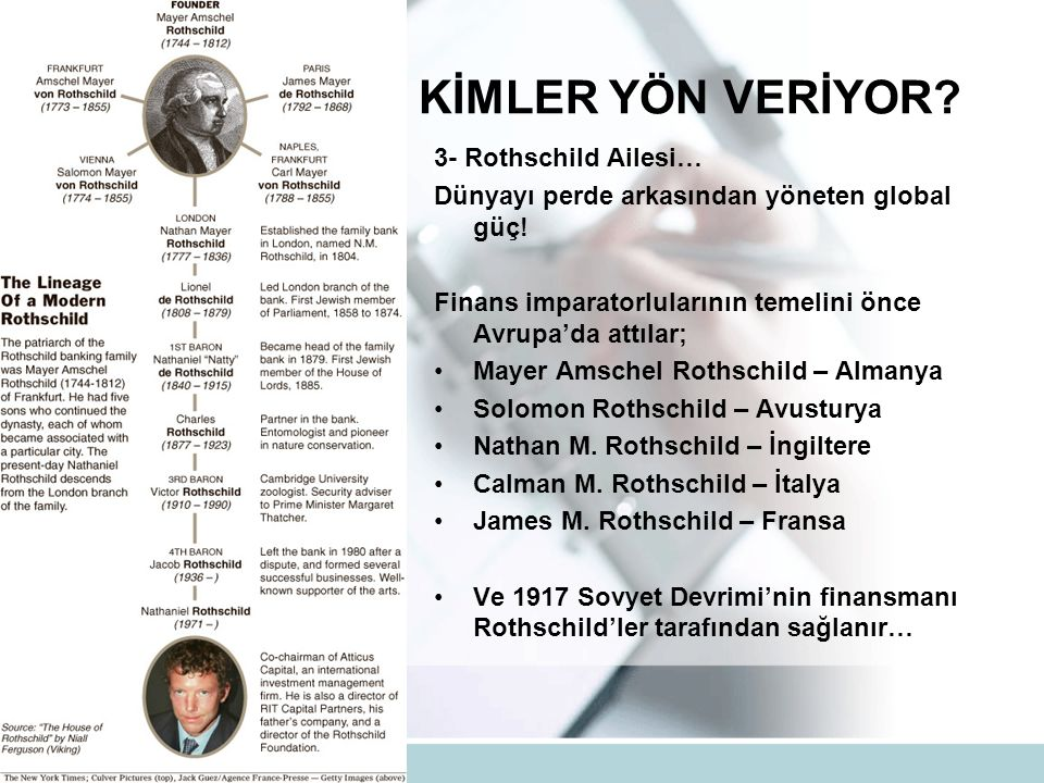 DÜNYAYA KİMLER YÖN VERİYOR. 3- Rothschild Ailesi… Dünyayı perde arkasından yöneten global güç.