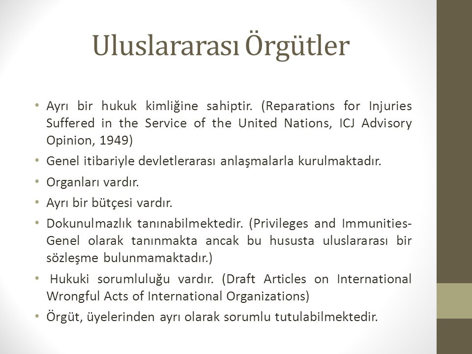 Uluslararası Adalet Divanı Milletler Cemiyeti (League of Nations) Permanent Court of International Justice (1922-1946) La Hay'de kurulmuştur.