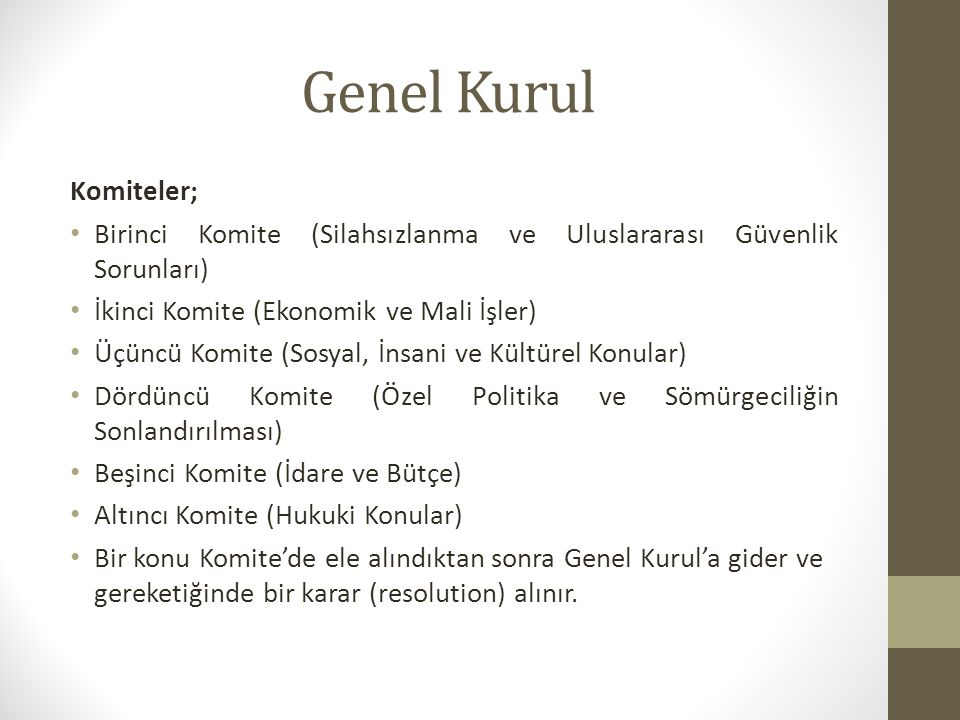 Uluslararası Hukuk Komisyonu Çalışma Alanları; 1.Law of treatiesLaw of treaties 2.Treaties concluded between States and international organizations or between two or more international organizationsTreaties concluded between States and international organizations or between two or more international organizations 3.Most-favoured-nation clause (Part One)Most-favoured-nation clause (Part One) 4.