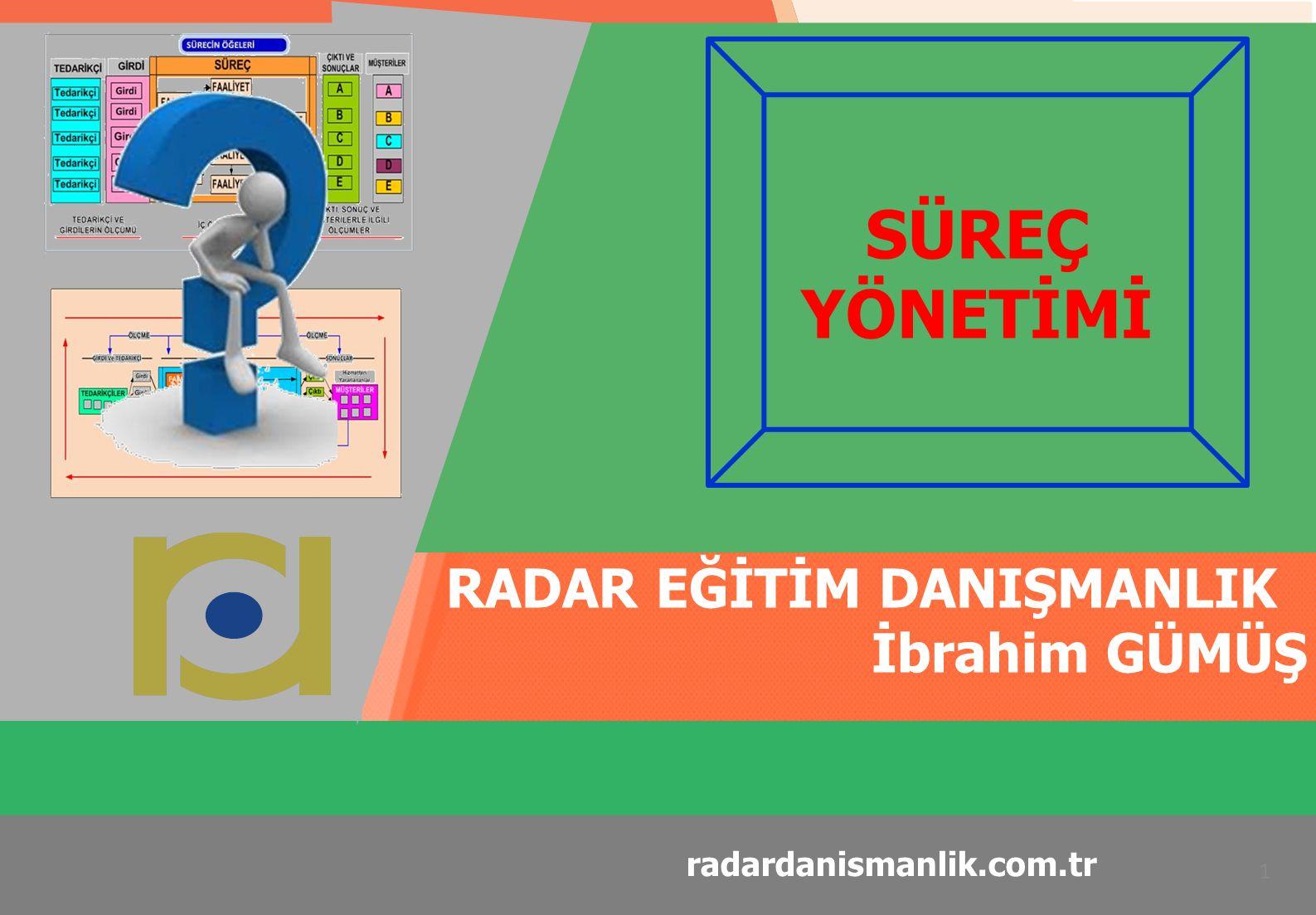 RADAR EĞİTİM DANIŞMANLIK SÜREÇ YÖNETİMİ 52 radardanismanlik.com.tr Süreç Tasarlama Yaklaşımları