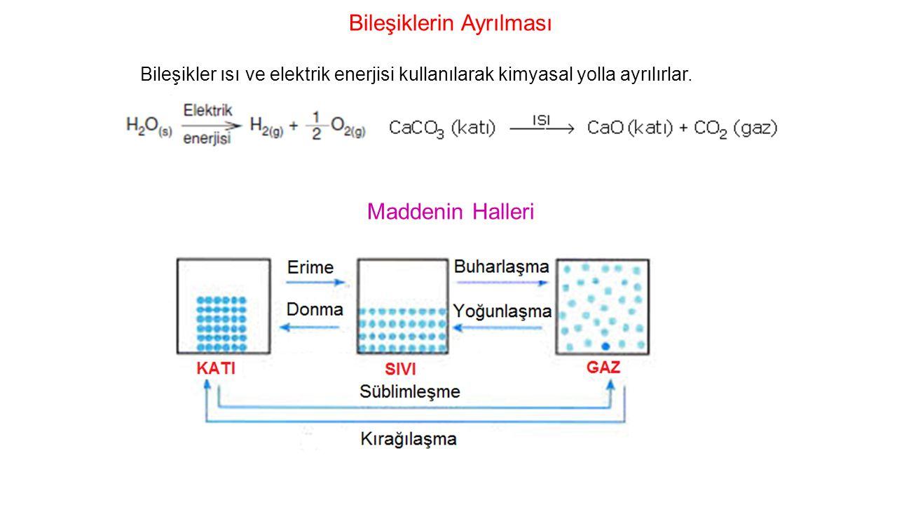 3.1A grubu metallerinin bileşiklerinde YB: +1, 2A grubu metallerinin YB:+2 'dir.