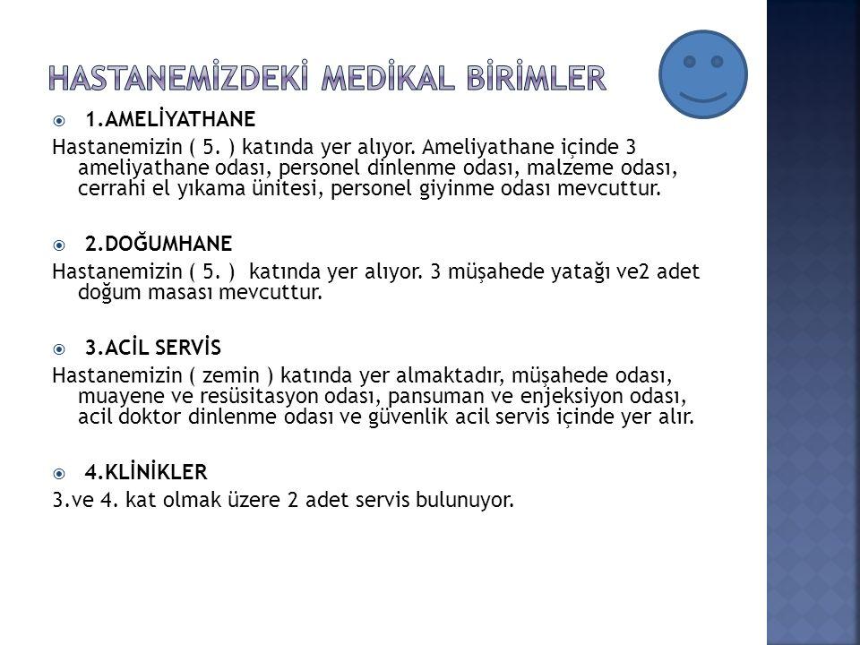  1.AMELİYATHANE Hastanemizin ( 5. ) katında yer alıyor.