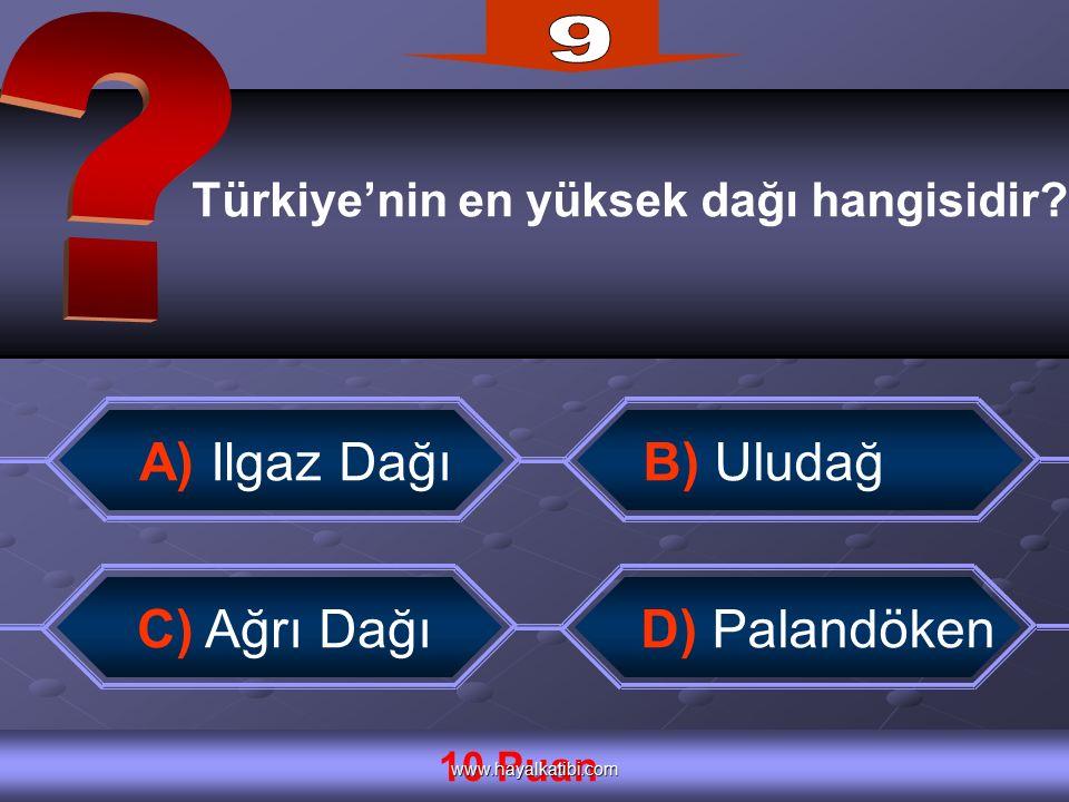 Türkiye'nin en yüksek dağı hangisidir.