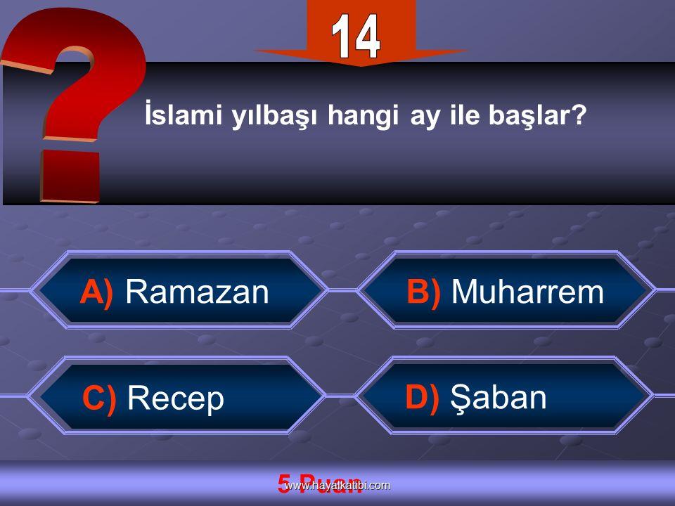 İslami yılbaşı hangi ay ile başlar.