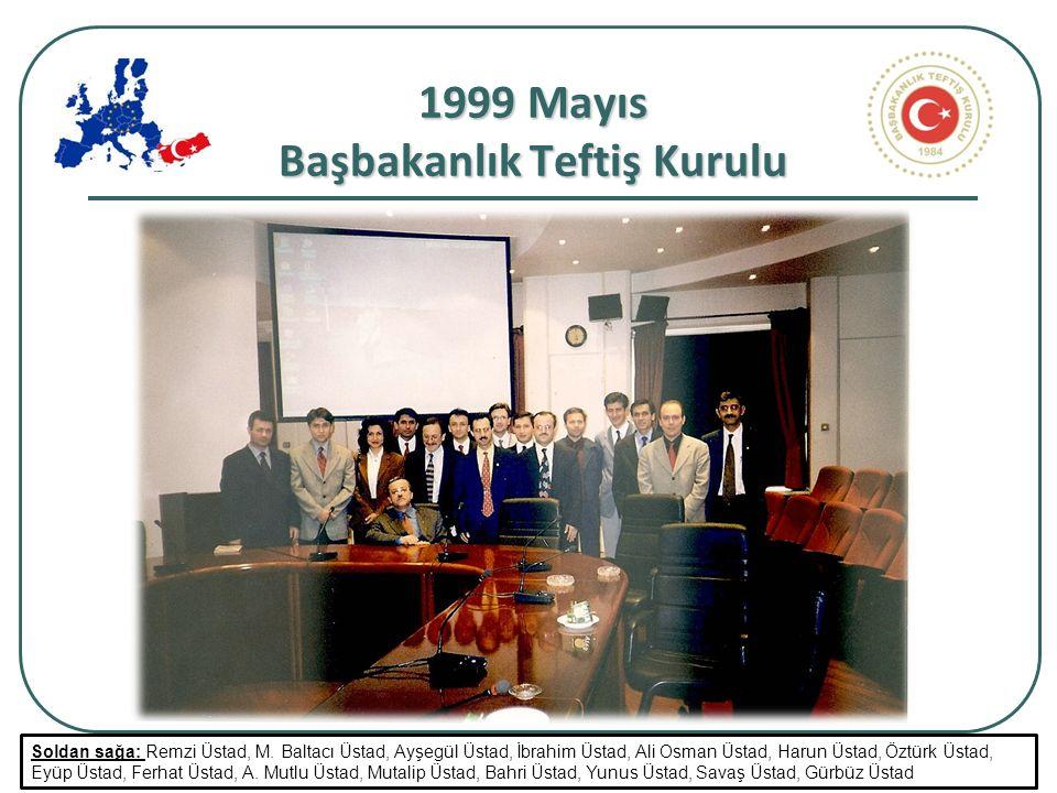 23 1999 Mayıs Başbakanlık Teftiş Kurulu Soldan sağa: Remzi Üstad, M.