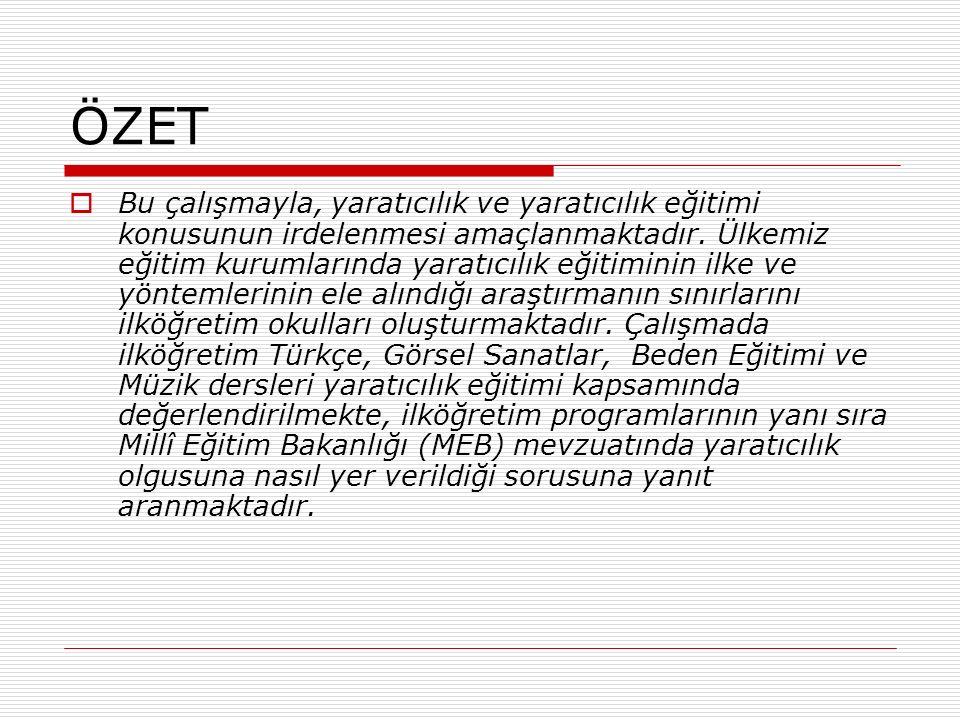 YARATICILIKLA İLGİLİ BİLİMSEL ARAŞTIRMALAR  Yaratıcılık ve Yaş  Mimar Sinan, ölümsüz eseri Selimiye'yi 80 yaşında tamamlar ve 99 yaşına kadar daha bir çok eser verdikten sonra ölür.